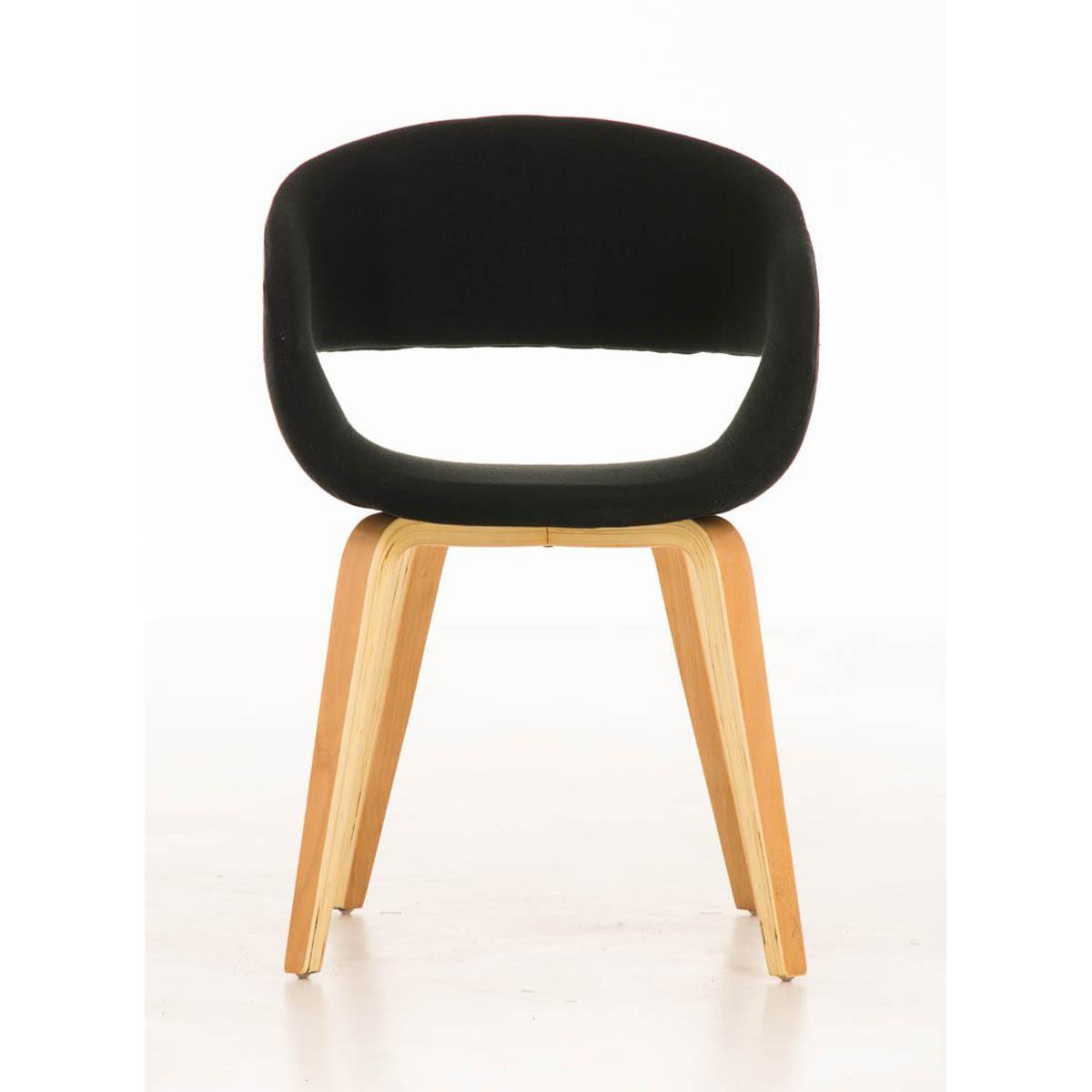 Silla de comedor gregory tapizada en tela color negro - Tela para sillas de comedor ...