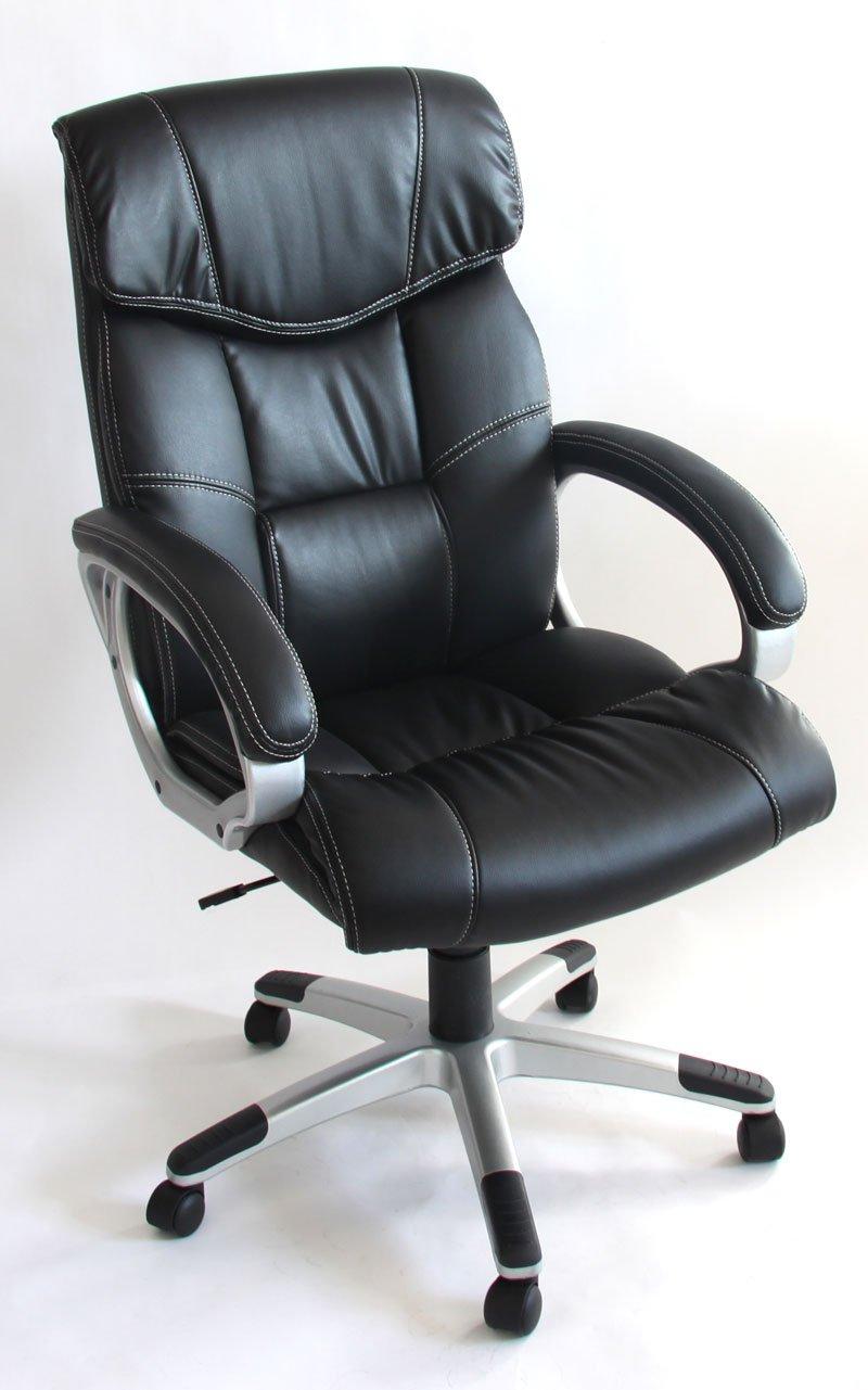 Silla de oficina ejecutiva m61 respaldo muy alto en for Sillas giratorias para oficina