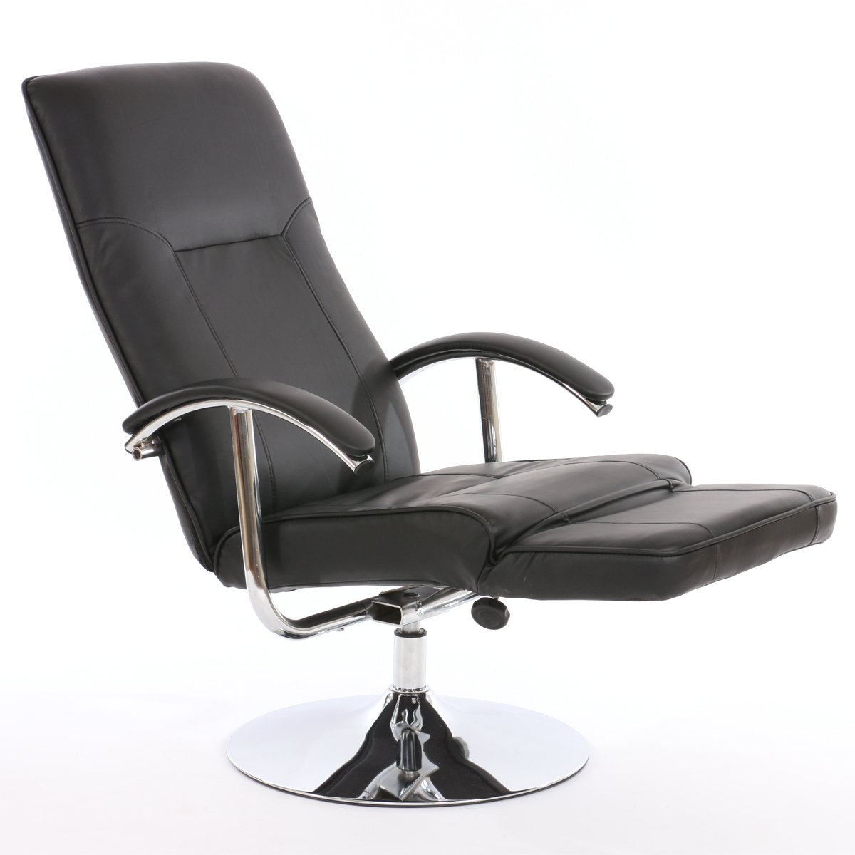 Sill n relax reclinable modelo apia ii en piel color negro for Sillon relax de piel