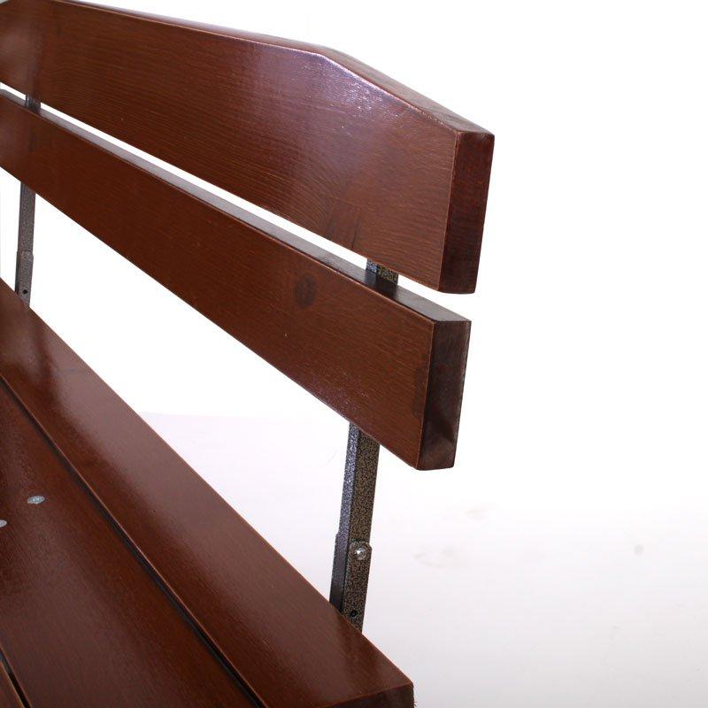 Set 2 bancos de madera para jard n o exterior de 180 cm - Bancos de exterior ...