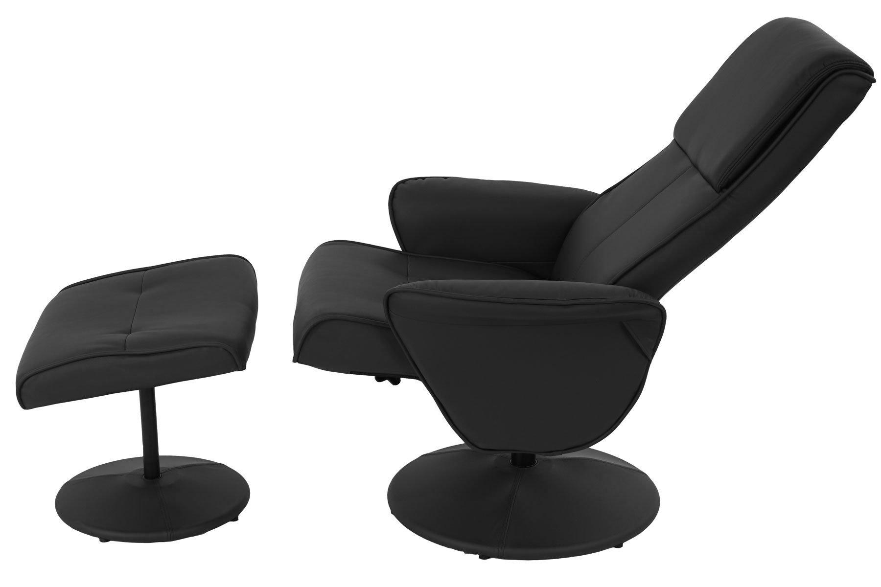 Sill n relax reclinable claudio en piel color negro - Sillon reclinable piel ...