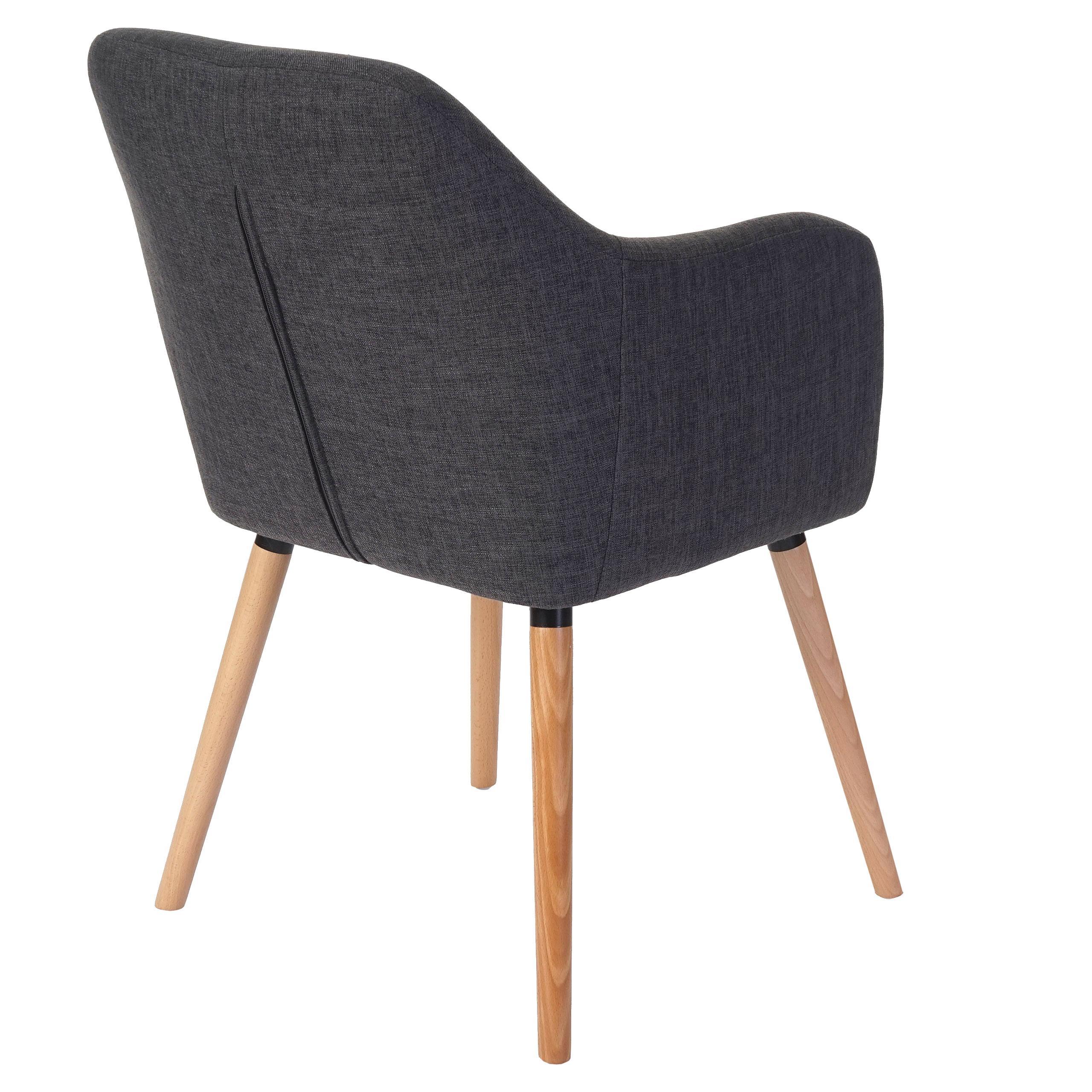 Lote de 6 sillas de comedor tulio tela tapizadas en for Sillas comedor patas madera