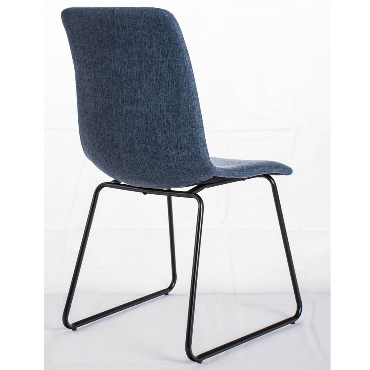 Conjunto de 6 sillas de comedor marina color azul y patas for Sillas de comedor metalicas precio