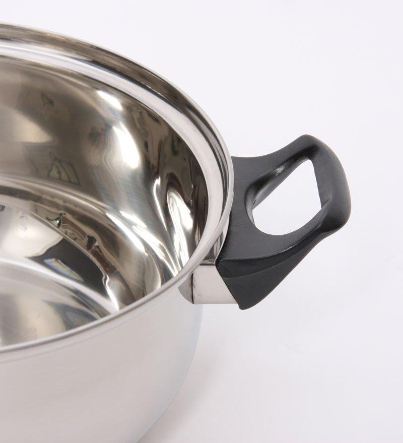Set de cocina 12 piezas acero inoxidable tapa de vidrio for Utensilios cocina acero inoxidable