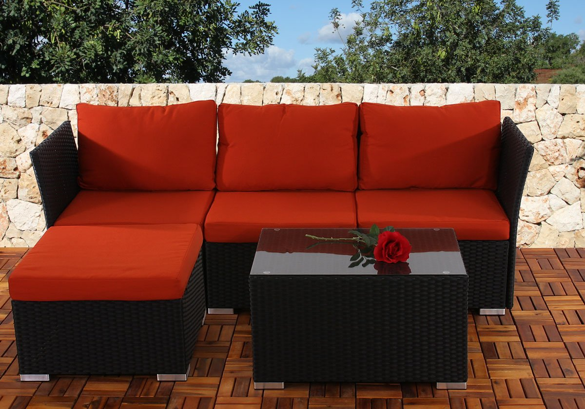 Conjunto de jardin siena sofa 2 sillones mesa for Sillones modulares