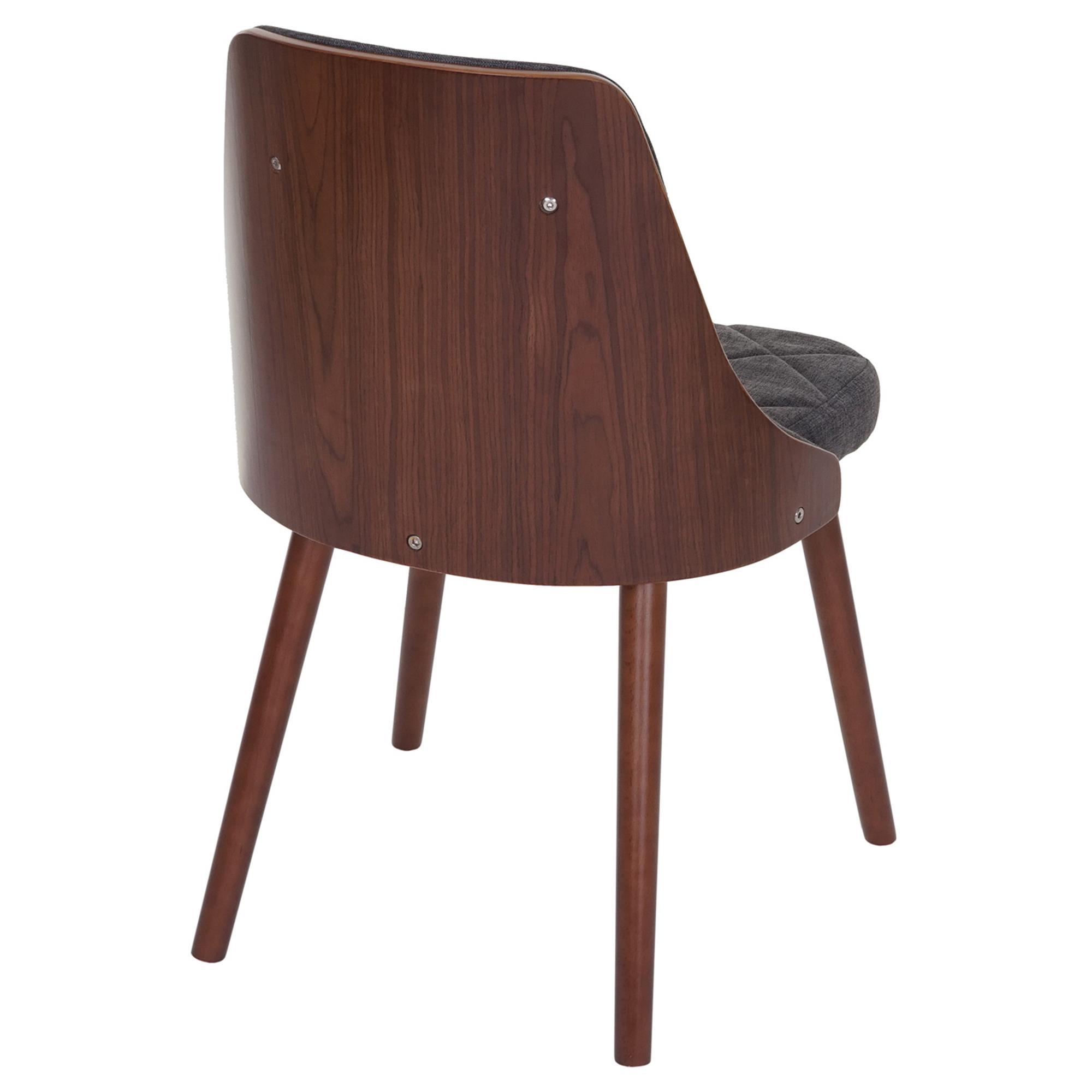 Lote 6 sillas de comedor baley tela en color gris - Tela para sillas de comedor ...