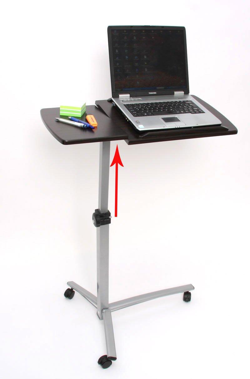 Mesa de ordenador port til regulable en altura y giro for Mesas de ordenador de diseno