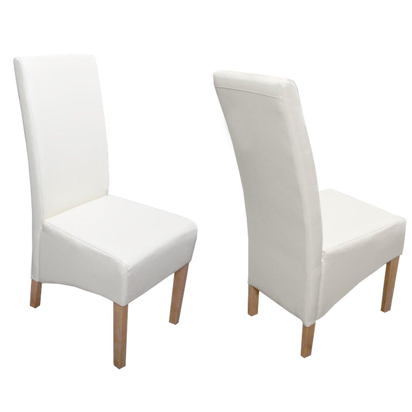 Lote 6 sillas de comedor siena ii en piel beige lote 6 for Sillas comedor polipiel beige