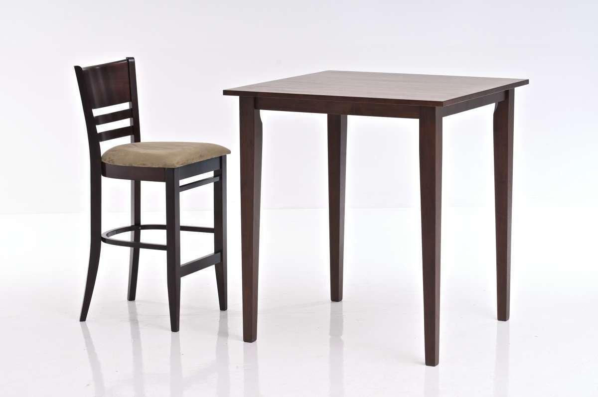 Mesa cuadrada de bar cocina o terraza modelo luna mesa for Mesa carro bar madera
