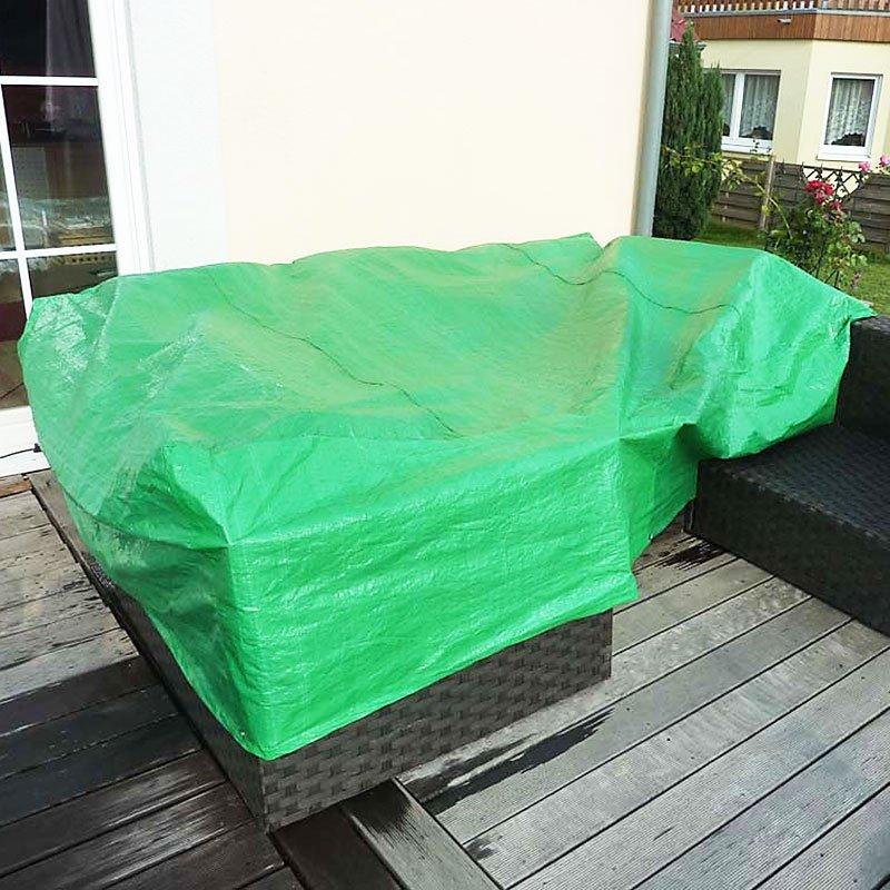 Lona verde para muebles de jard n 300x185x70 cm lona for Lonas para jardin