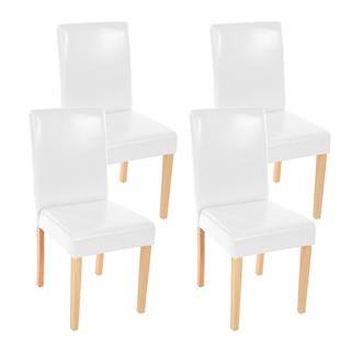 lote sillas de comedor litau precioso diseo piel blanca brillante y patas claras