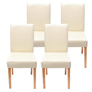 demo lote sillas de comedor litau precioso diseo piel crema patas brillantes