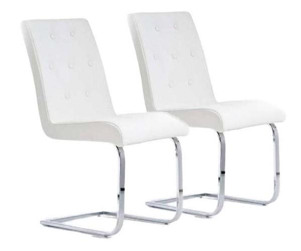 Sillas de comedor blancas los mejores modelos for Sillas blancas modernas para comedor