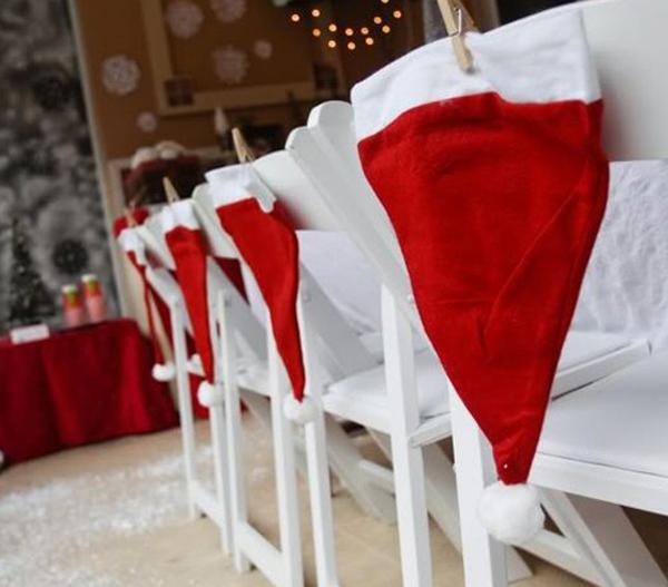 adornos de navidad para sillas de comedor