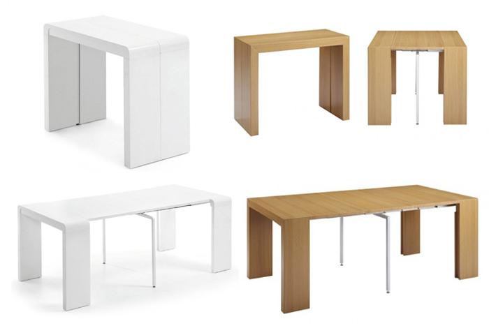 Muebles multifuncionales innovaci n o p rdida de tiempo - Mesas ovaladas extensibles ...