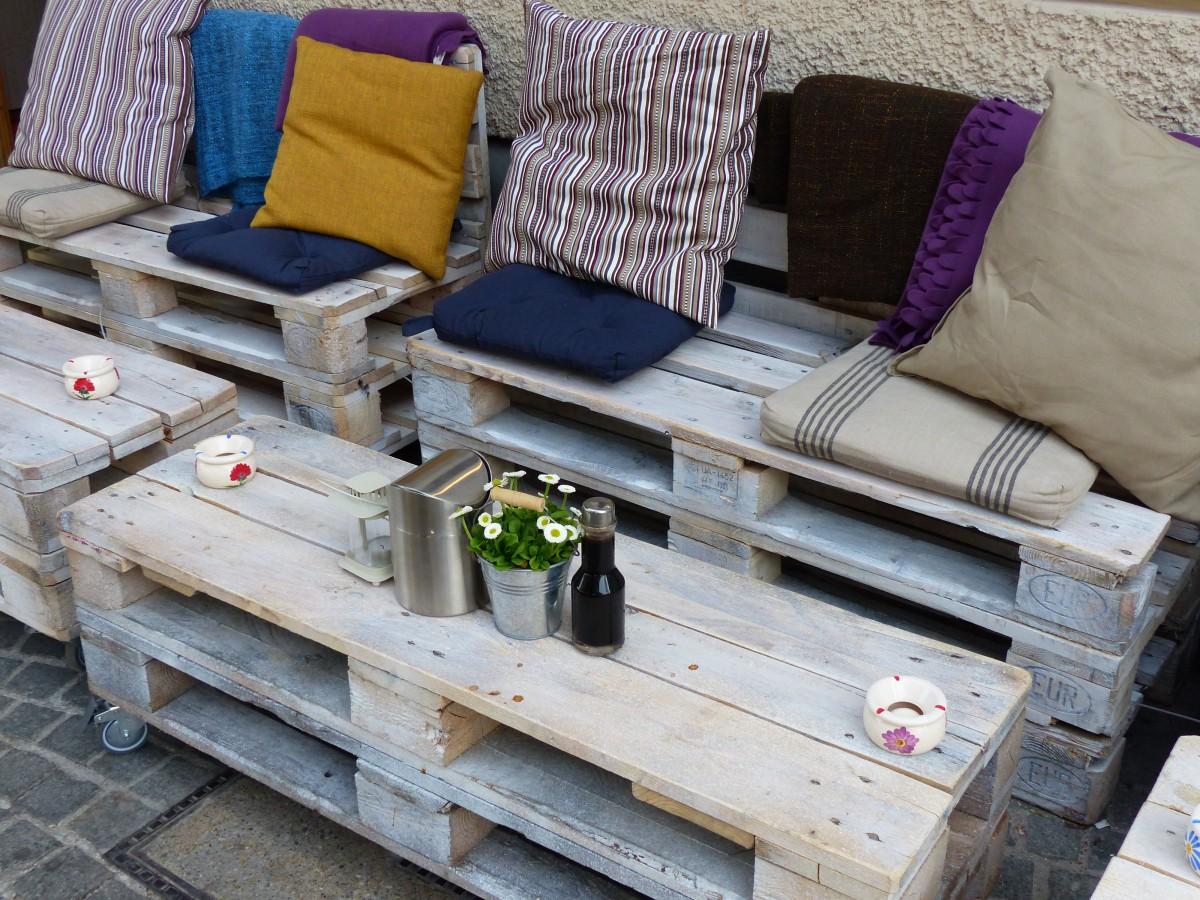 asientos de madera con palets - Asientos Con Palets