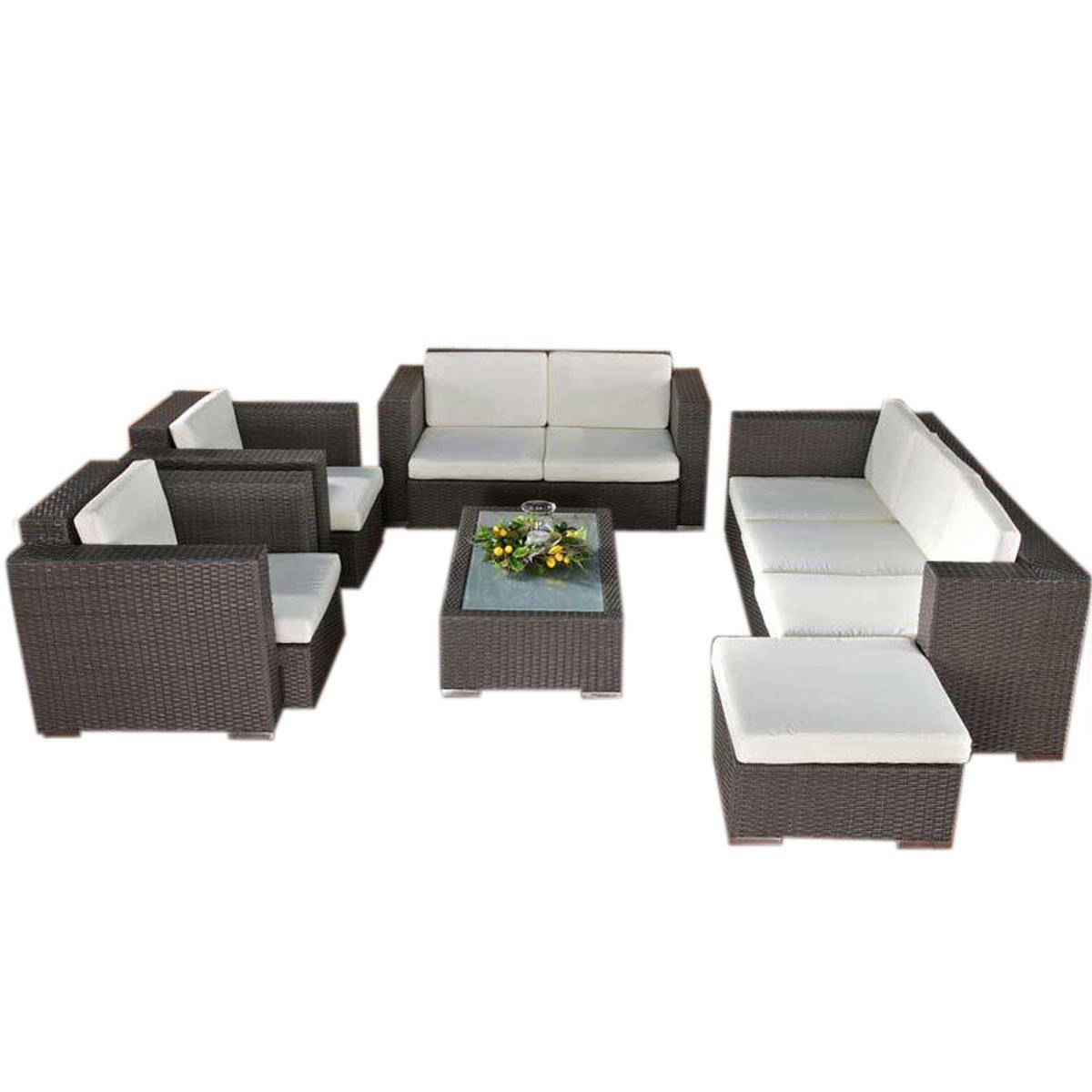 Sof muebles de jard n provence gris mimbre sof for Provence mobiliario