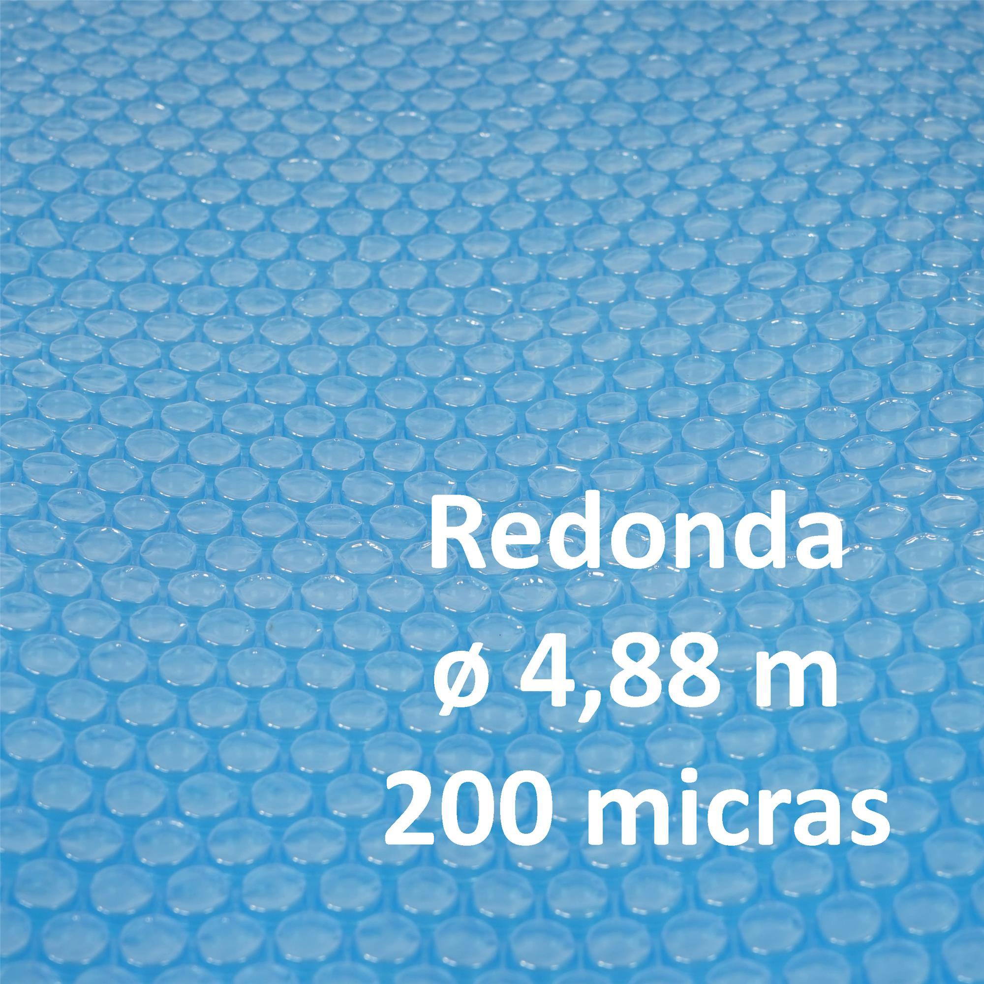 Cubierta lona t rmica piscina dimensiones 4 88 metros for Lona termica piscina