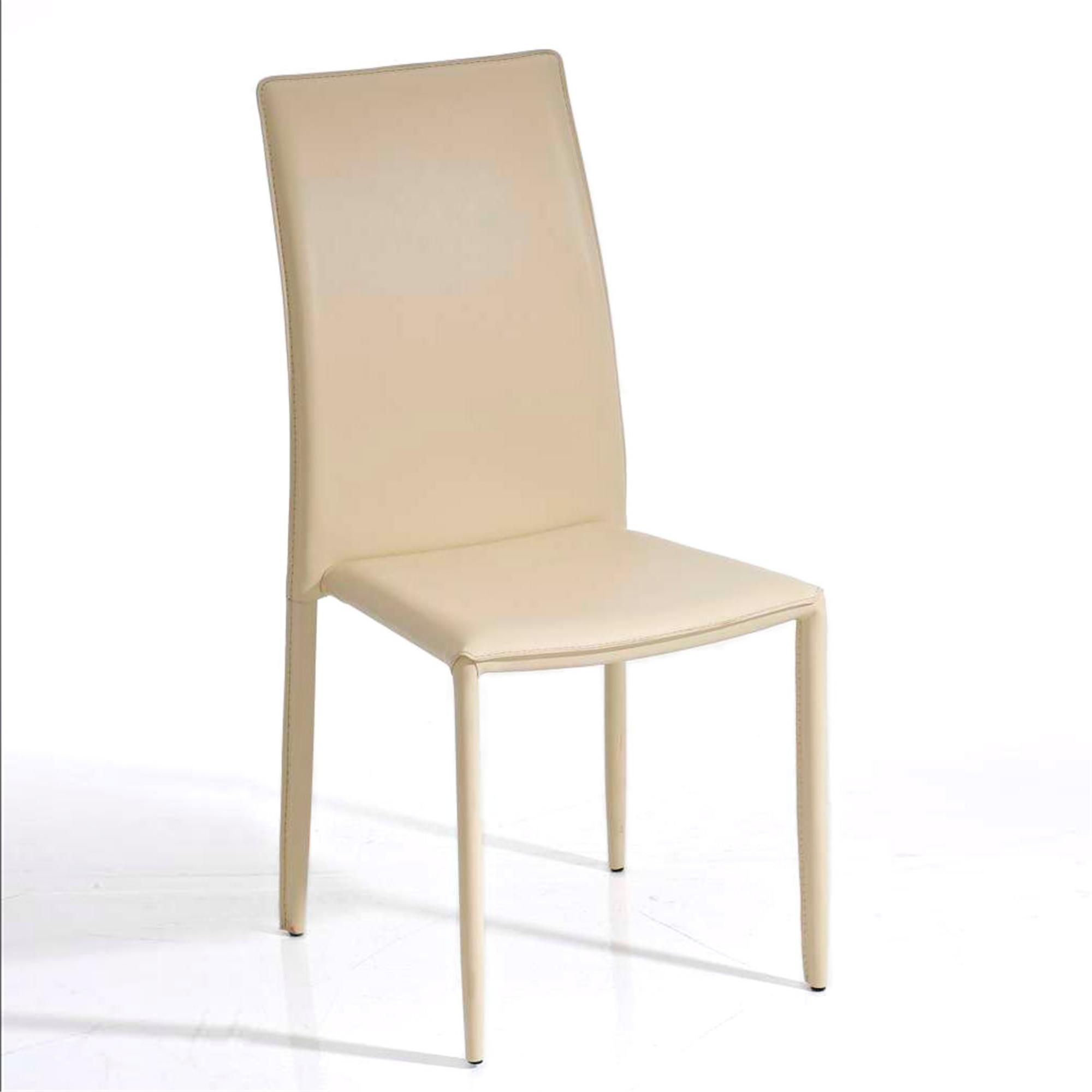Silla de comedor o cocina alena apilable color crema for Comedor sillas de colores