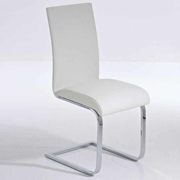 Silla de Comedor o Cocina C02, estructura metálica color blanco ...
