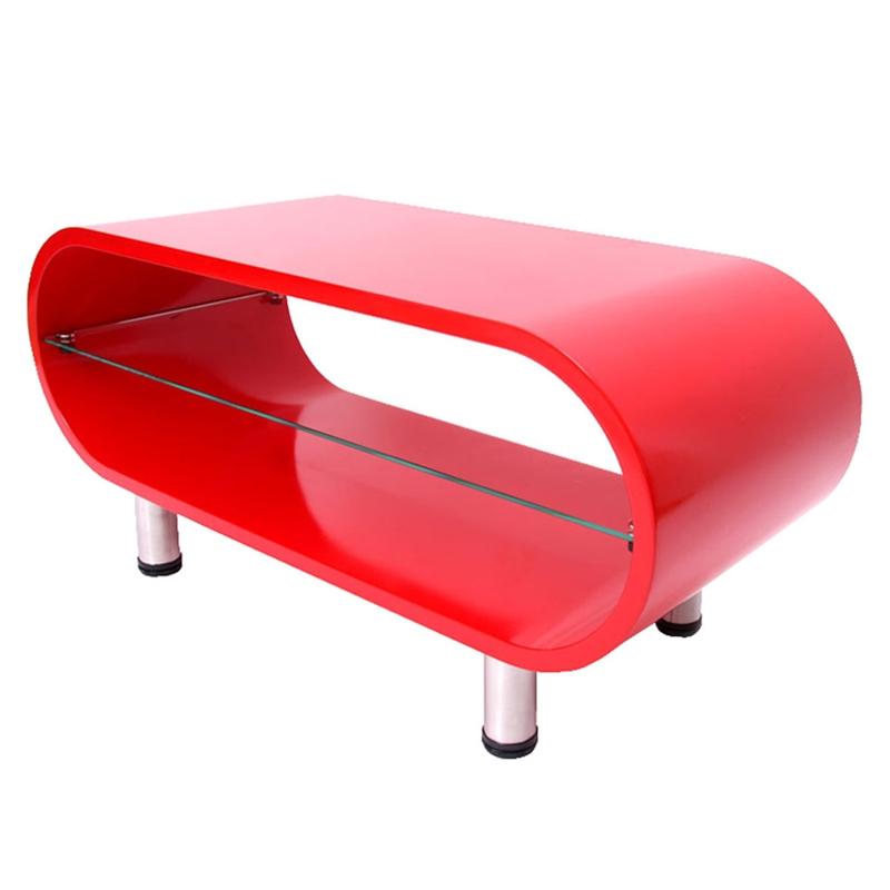 Mesa de centro color rojo 44x90x38 cm preciosa mesa de - Mesas de centro de colores ...