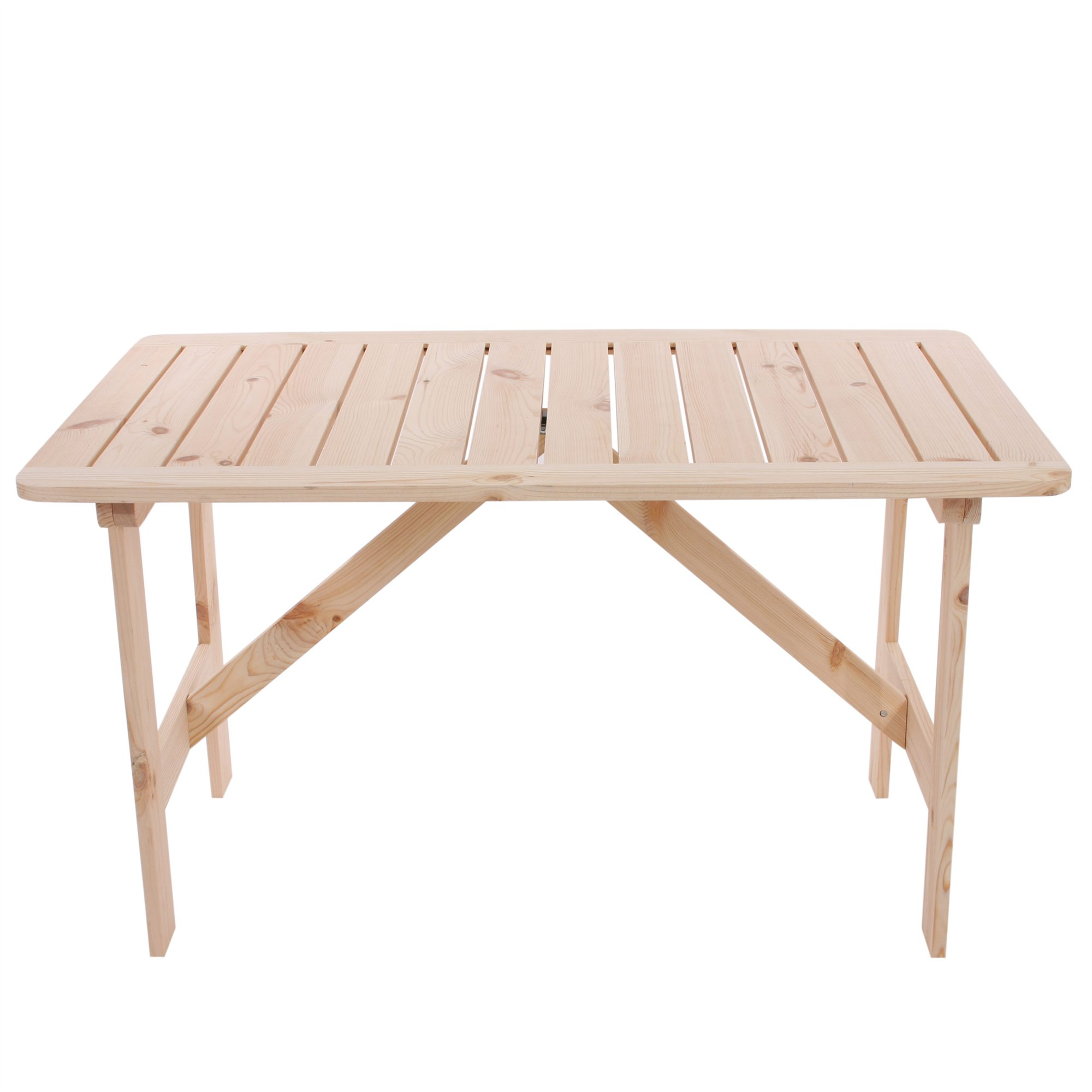 Mesa de jard n o terraza copenhaguen en madera 130 x 80 - Mesas de madera de jardin ...