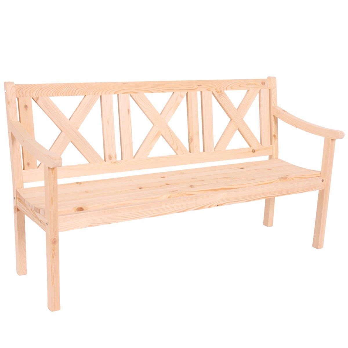 Banco madera 3 plazas para jard n o terraza copenhaguen for Bancos de jardin precios