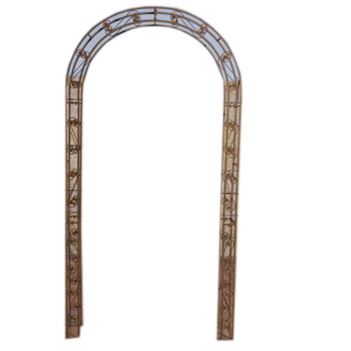 Arco met lico para jard n rose marr n 236x125 cm arco for Cobertizo metalico jardin