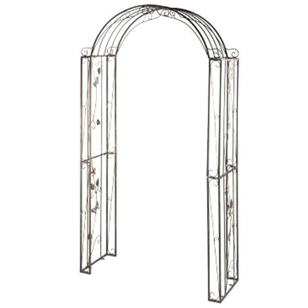 Arco met lico para jard n flores blanco 238x123x45 cm for Arcos para jardin