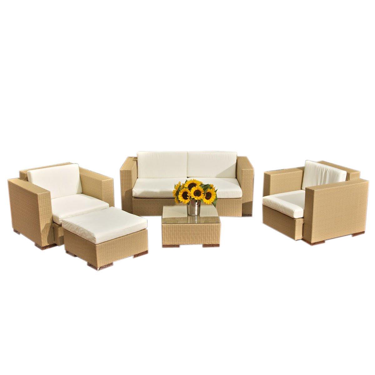 Conjunto de jard n sofa arena 2 plazas 2 individuales for Conjuntos de sofas para jardin