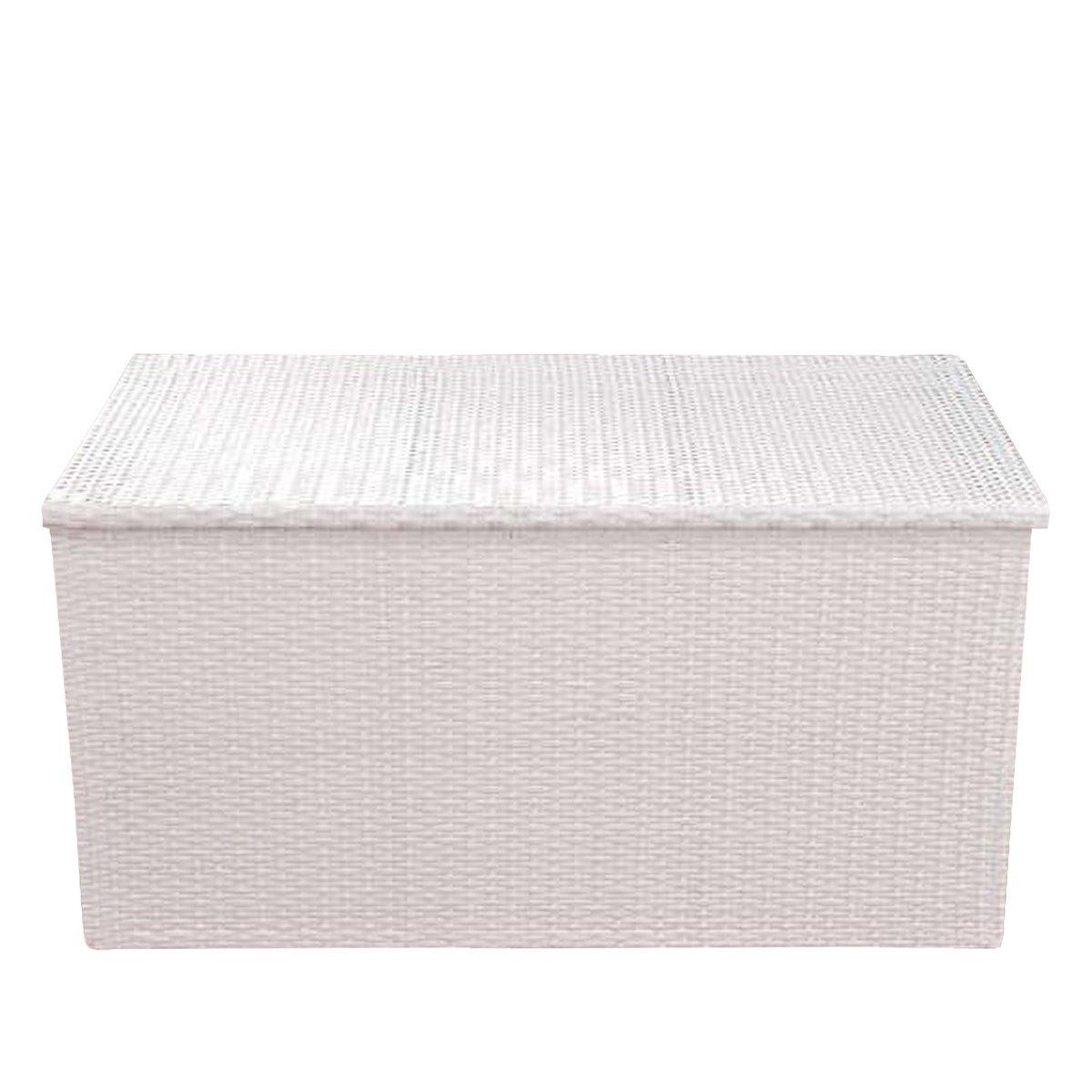 Baúl almacenaje L forrado en poly ratán color blanco - Baul para ...