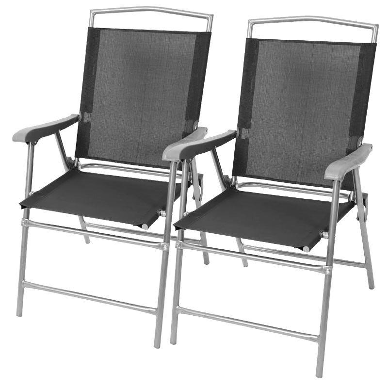 Lote 2 sillas de camping m13 plegables color antracita - Sillas plegables de camping ...