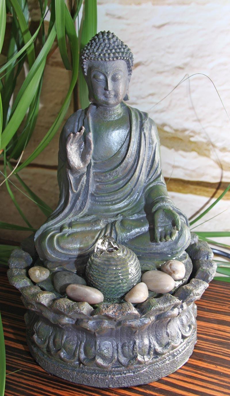 Fuente de agua decorativa buda 27x19 cm fuente de for Fuentes decorativas interior