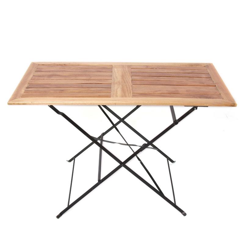 Mesa para terraza m97 en madera dimensiones 110x60x70 cm color naturalal - Mesa terraza madera ...