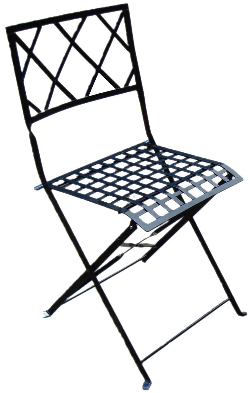 lote 2 silla terraza metalica