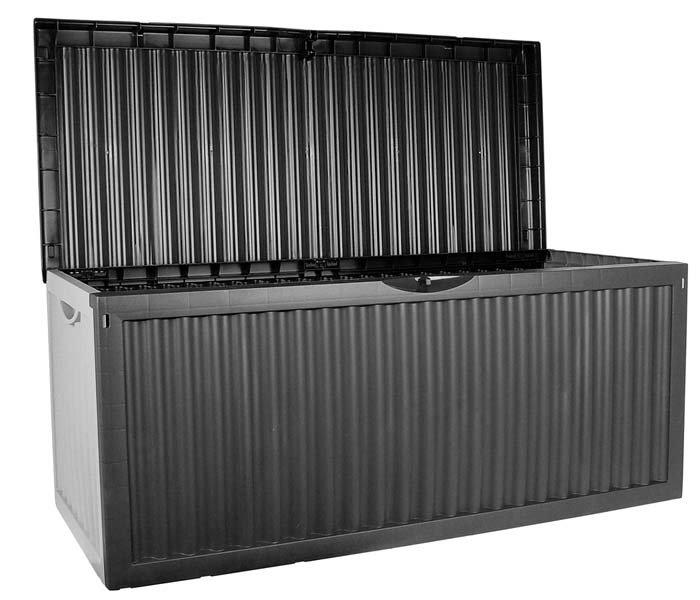 Caja para almacenaje jard n color antracita 120x52x54cm for Almacenaje de jardin