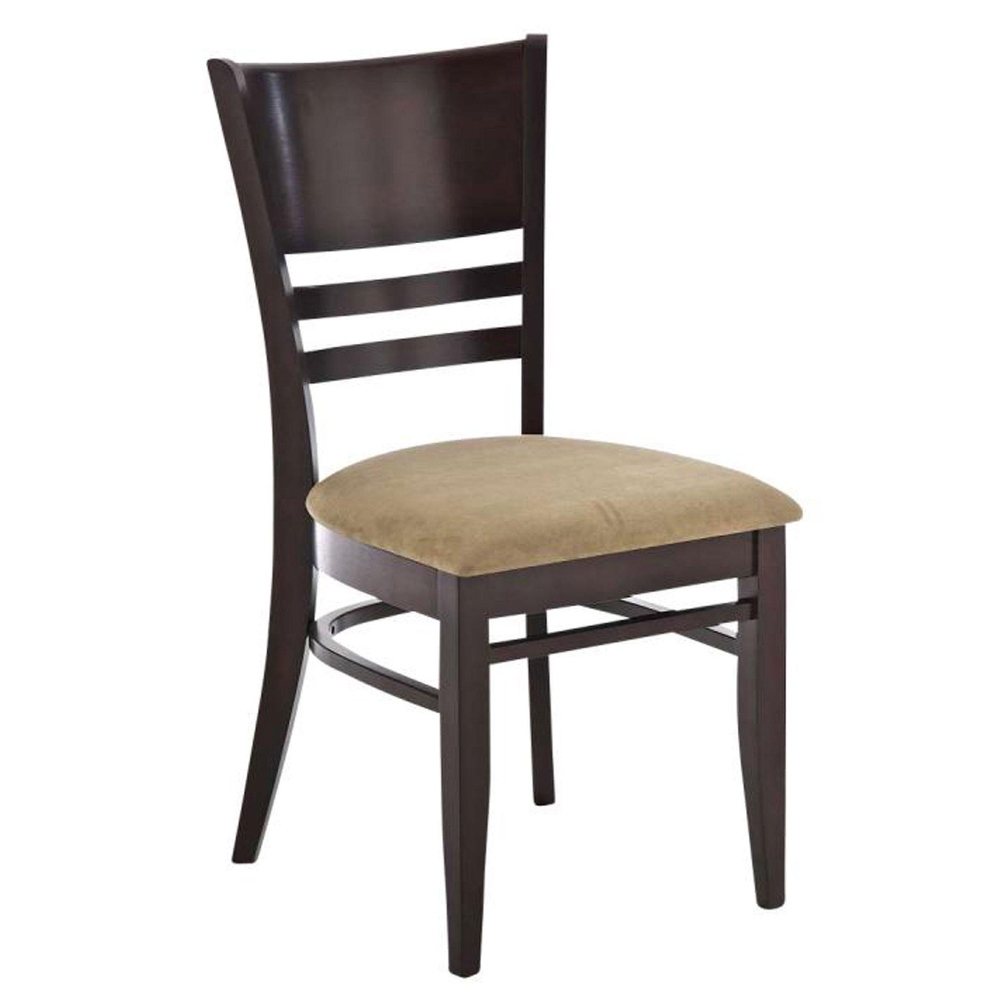 Silla de comedor en madera c38 color cappuccino marr n for Comedor sillas de colores