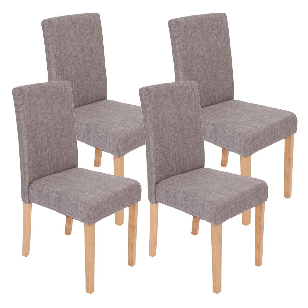 Lote 4 sillas de comedor litau tela precioso dise o tela for Sillas cromadas para comedor