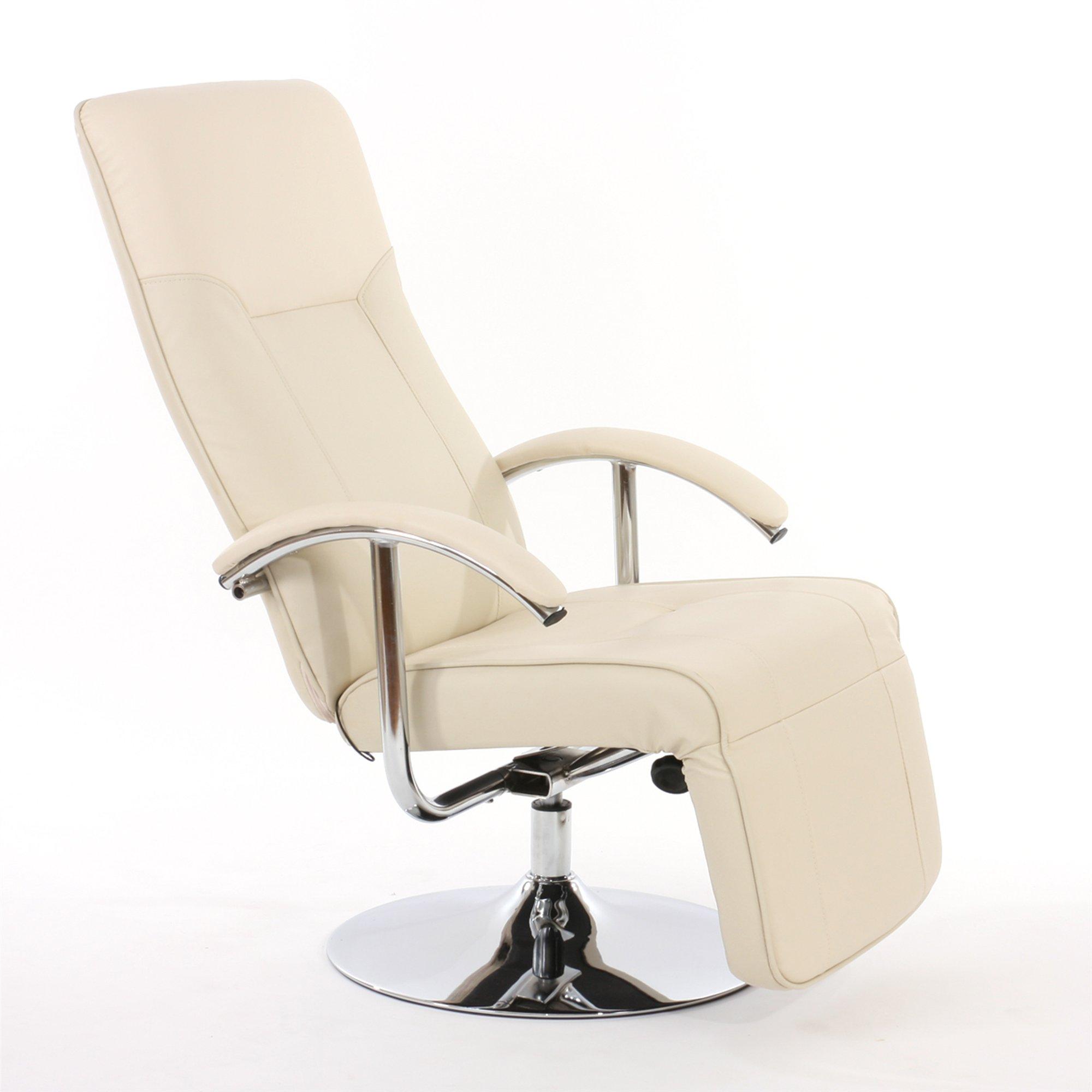 Sill n relax reclinable modelo apia ii en piel crema for Sillon relax piel