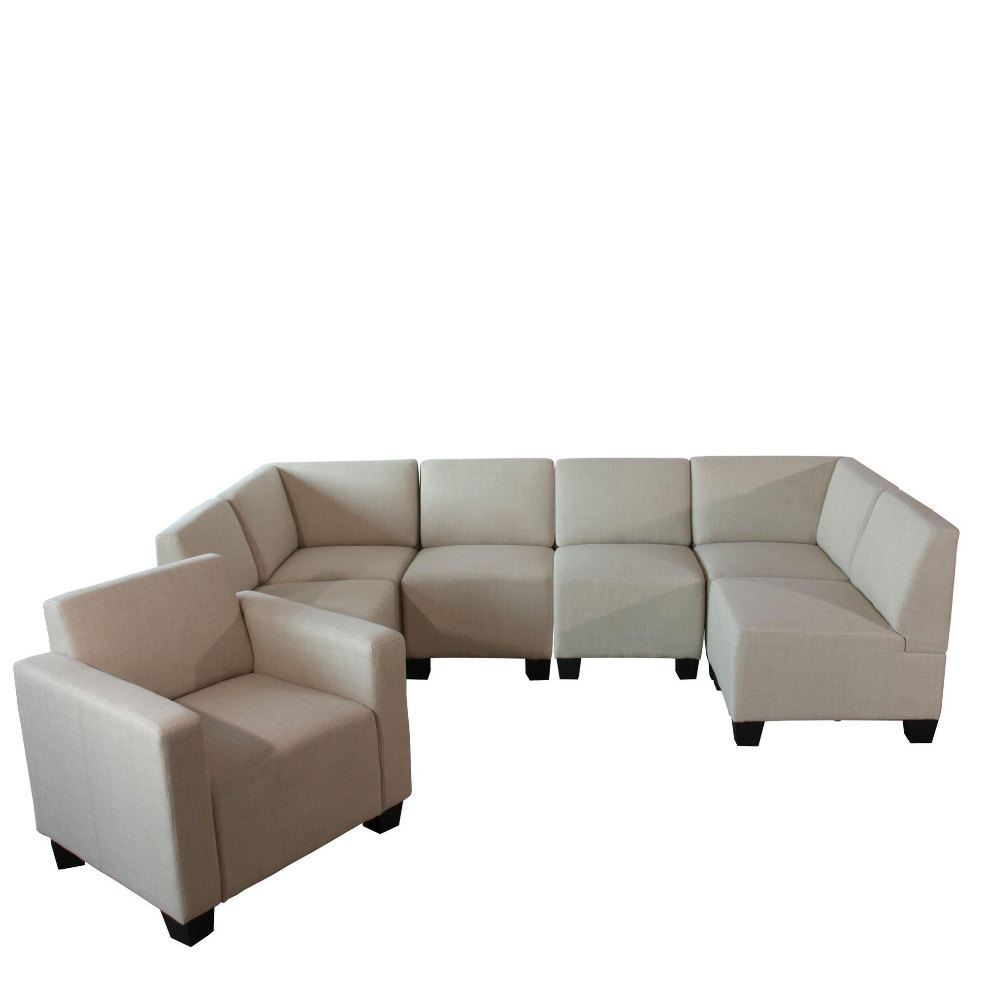 Sofa Modular LYON En 6 Piezas + 1 Sillón Auxiliar, Gran