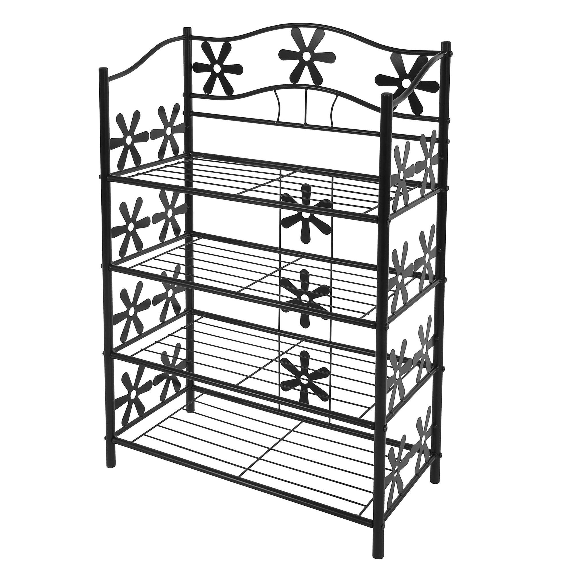 Estantería de metal zapatERO GINEBRA 4 estantes, 90 cm de altura