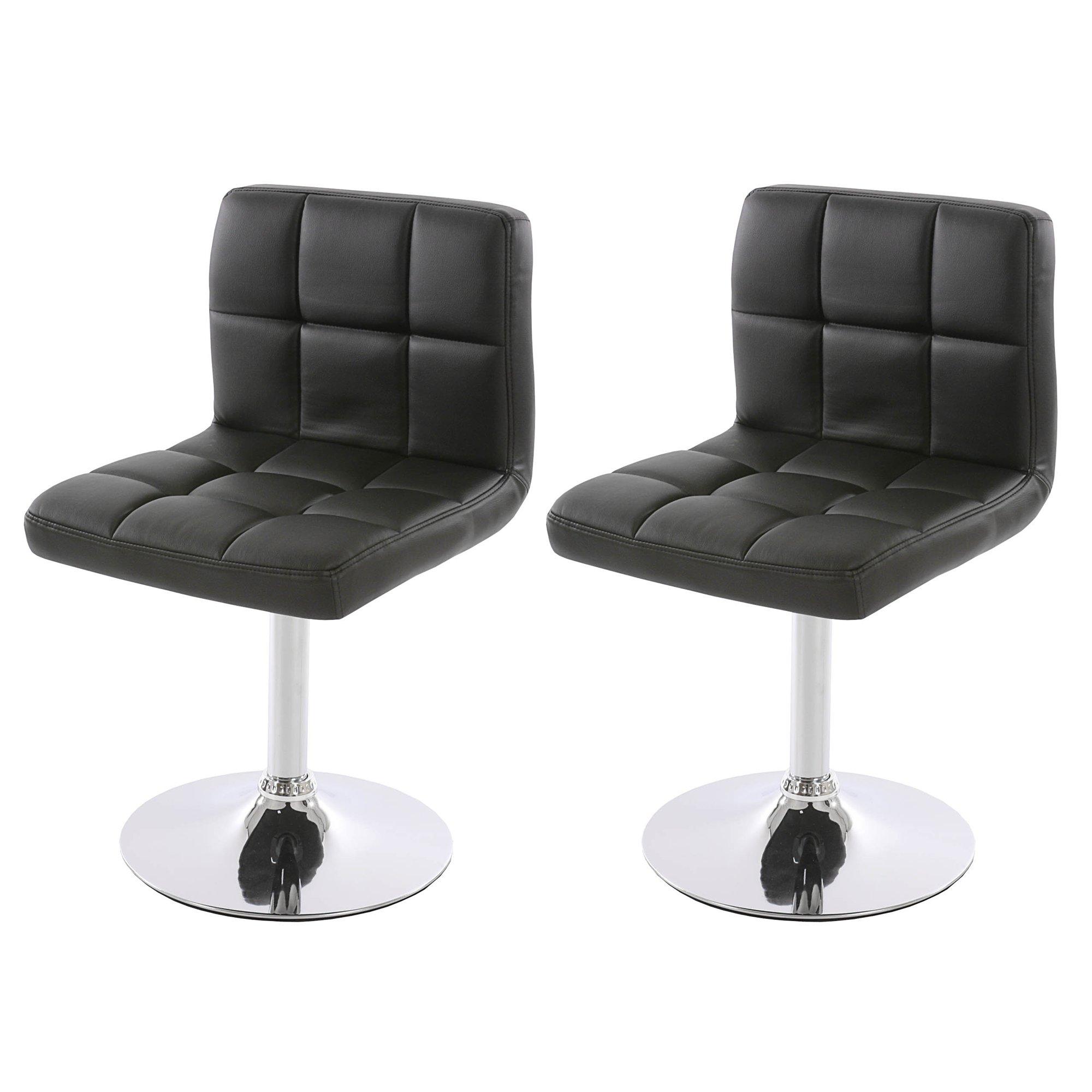 Conjunto de 2 sillas de cocina genova negras conjunto for Sillas cocina negras