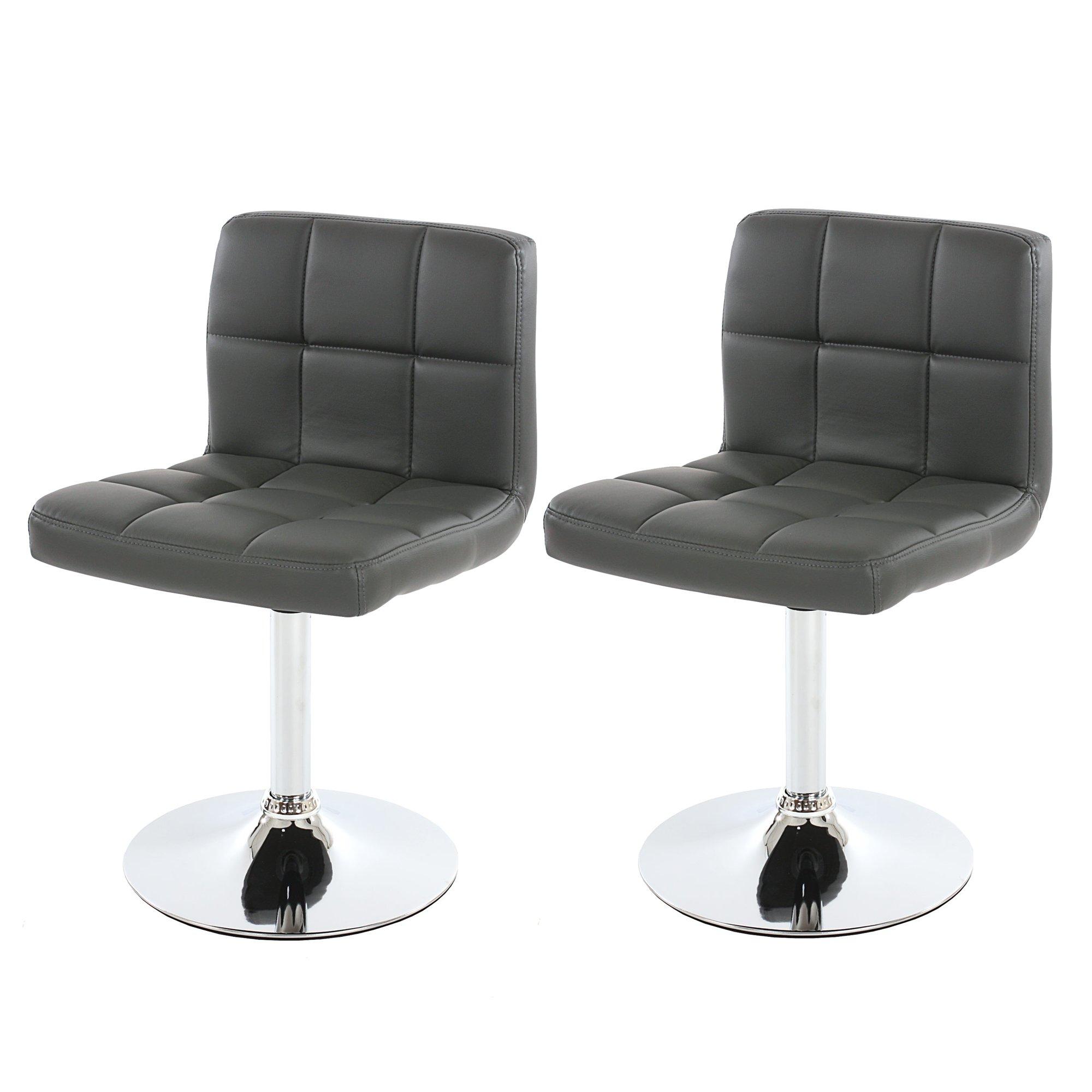 Conjunto de 2 sillas de Comedor GENOVA, Grises - Conjunto de 2 ...