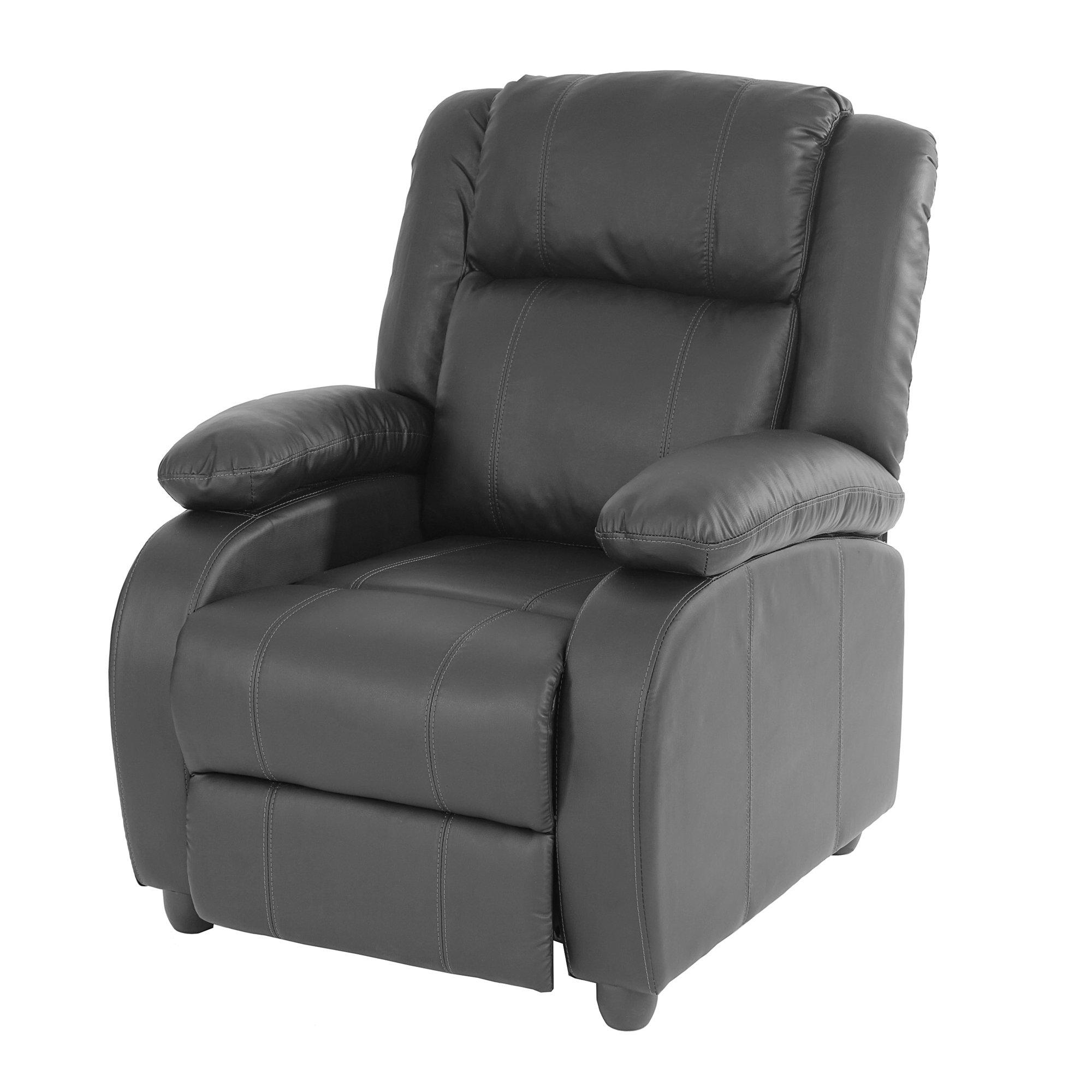 Sill n relax reclinable lincon en color negro sillon relax reclinable lincon color negro - Sillon individual relax ...