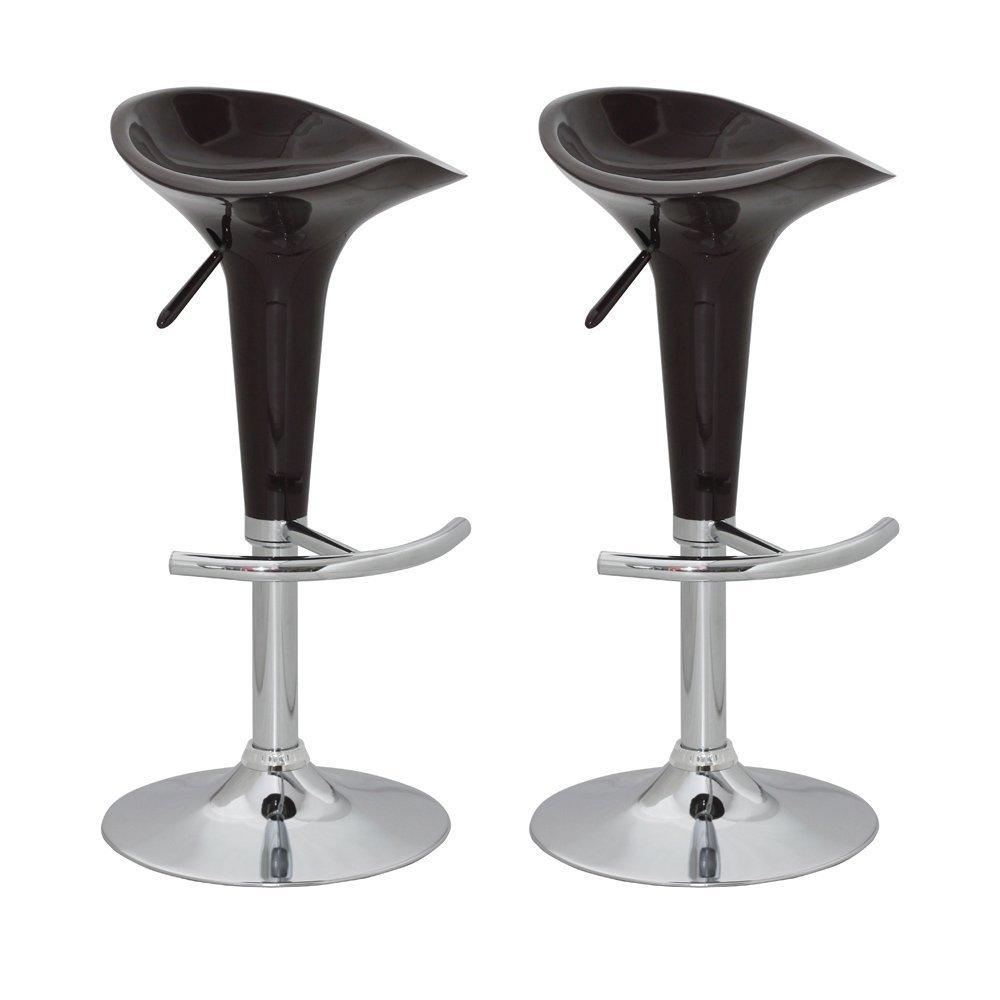 Lote 2 taburetes de cocina viena en color negro lote 2 for Taburetes de cocina de diseno