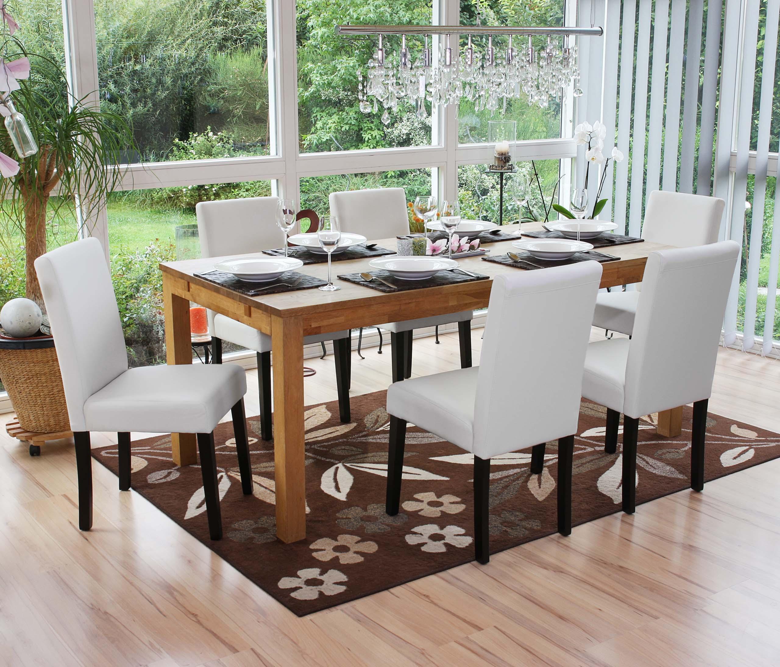 Conjunto de 6 sillas de comedor litau piel blanco mate conjunto de 6 sillas de comedor litau - Conjunto de comedor ...