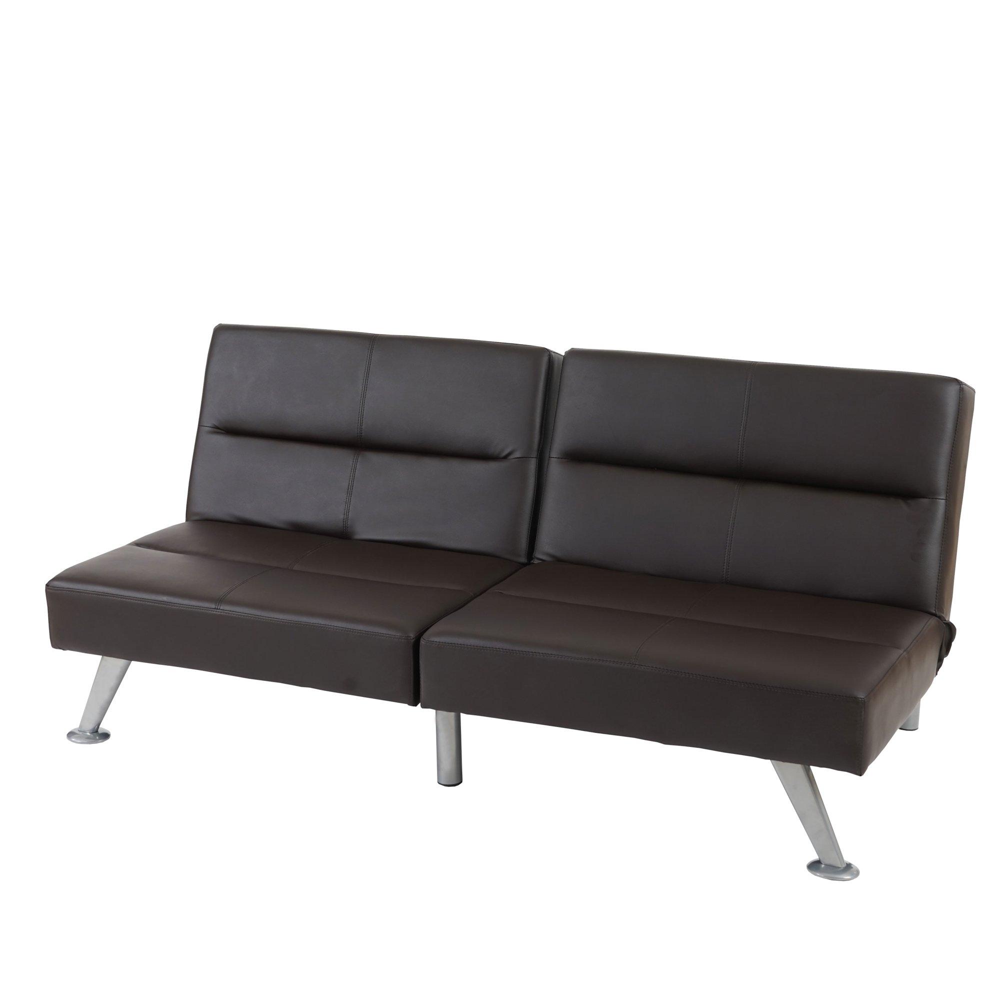 Sof de 3 plazas sof cama cama darwin ii marr n for Sofa cama de cuero