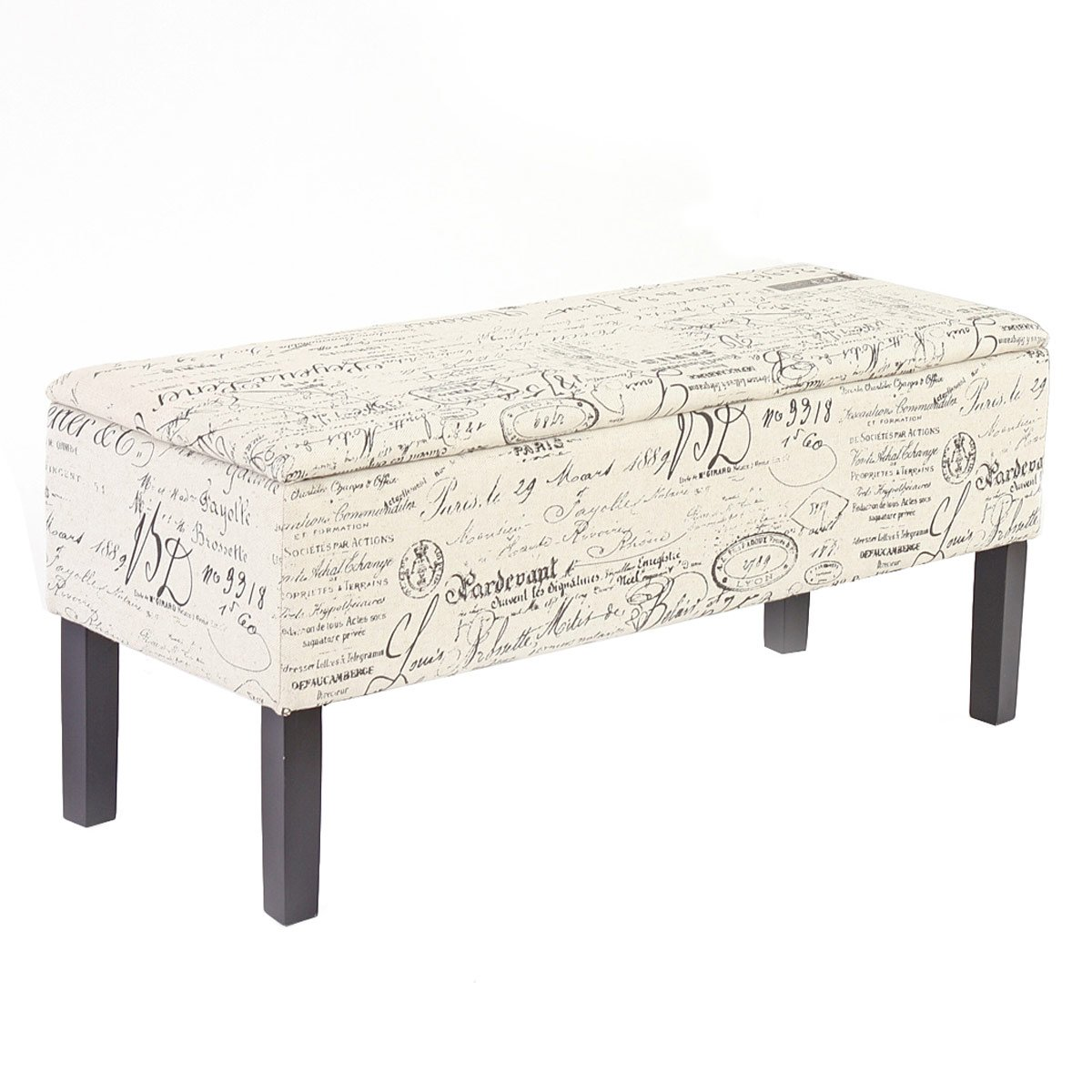 Banco con ba l para pie de cama renens en tela acolchado - Baul almacenaje ikea ...