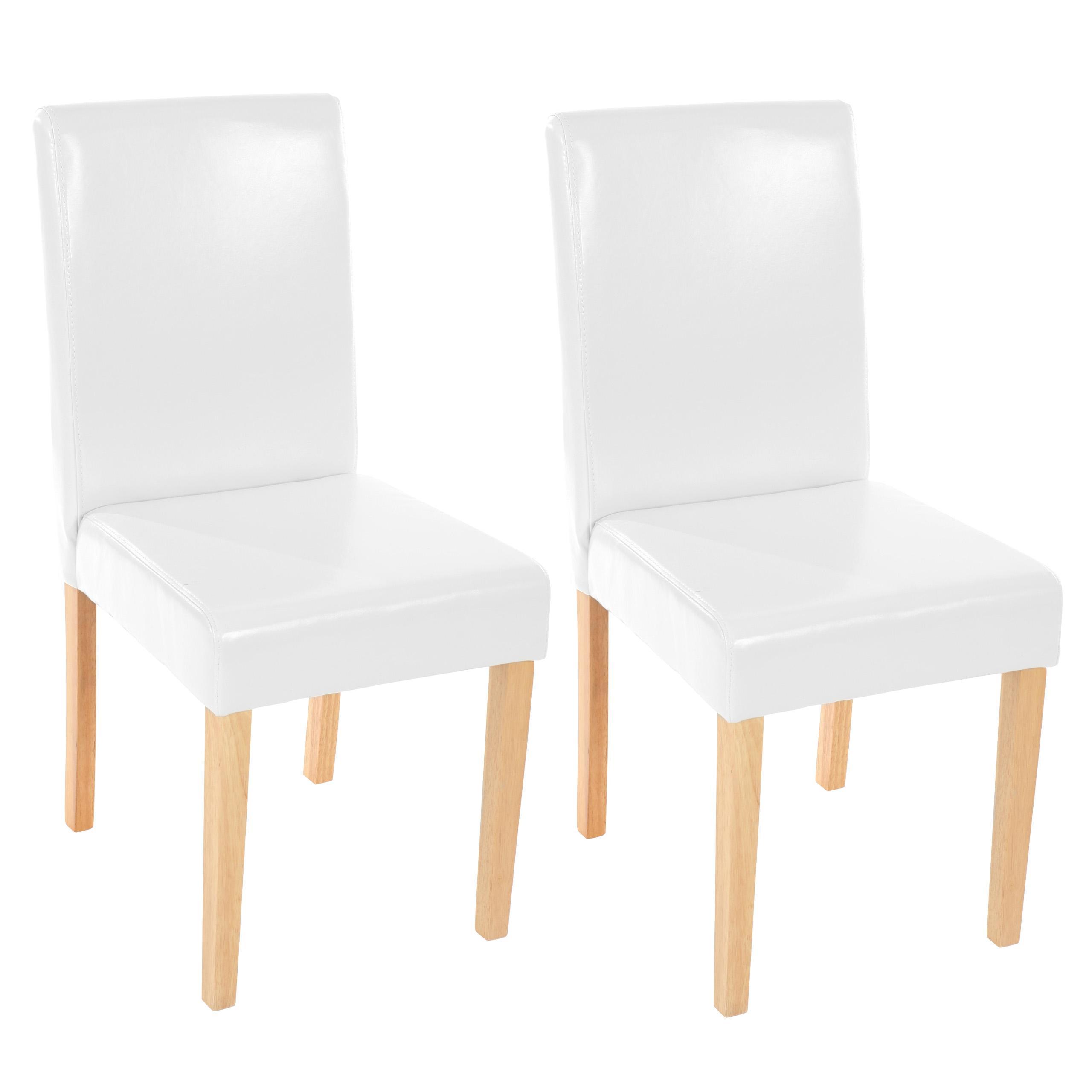 Conjunto 2 sillas comedor en blanco y madera lote 2 - Sillas comedor colores ...