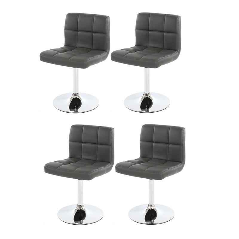 Conjunto de 4 sillas de cocina genova grises conjunto 4 for Sillas comedor comodas